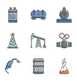 industrial factory icons set cartoon style vector image vector image