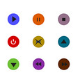 isolated control button flat icon vector image vector image