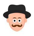 isolated hipster avatar with a hat vector image vector image