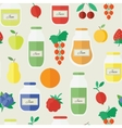 Jam and juice seamless pattern in flat style vector image vector image