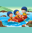kids on boat vector image vector image