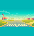 landing strip for airplanes terminal near vector image vector image