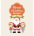 little kids in christmas celebration vector image vector image