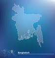 Map of Bangladesh vector image vector image
