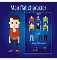 Mature man flat character vector image