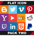 modern flat icon pack two image vector image
