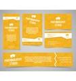 Modern light identity set Business card banner vector image vector image