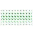 natural leaf with drop shape halftone grid vector image