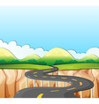 Nature scene with road and field vector image vector image