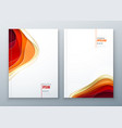 paper cut brochure design paper carve abstract vector image vector image