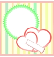 paper hearts background vector image vector image