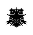 police department logo policeman badge vector image
