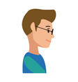 profile young man cartoon people image vector image vector image