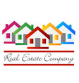 real estate house company vector image vector image