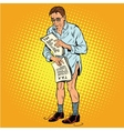 Retro businessman without pants because of taxes vector image vector image