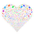 script roll fireworks heart vector image vector image