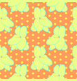 seamless floral pattern with yellow violet flowers vector image vector image