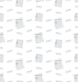 Seamless Pattern with Newspapers and Eyeglasses vector image