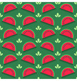 Seamless pattern with watermelon slices vector image vector image