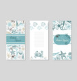 seashells booklet design summer sea shells banner vector image