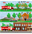 set of fire posters banners in flat style vector image vector image