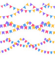 set of garland with celebration flags chain vector image vector image