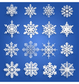 Set of paper snowflakes vector image vector image