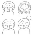 set of runny nose people vector image