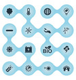 set of simple power icons elements floret vector image vector image