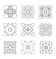Set of square rosette elements vector image vector image