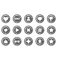 set of update icon for social network vector image vector image