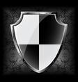 steel shield vector image vector image