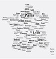 Text graphic France map vector image vector image