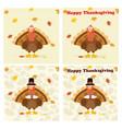 thanksgiving turkey bird collection - 2 vector image vector image