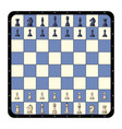 top view flat chessboard chess game vector image
