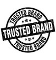 trusted brand round grunge black stamp vector image vector image