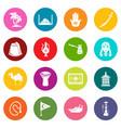 turkey travel icons set colorful circles vector image vector image