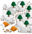 winter camp in mountains vector image vector image