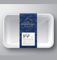 worlds best bison abstract plastic tray vector image vector image
