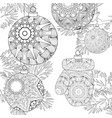 zentangle stylized christmas decorations with vector image vector image