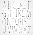 Curly wire font vector image