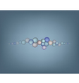 Abstract Bubbles on Grey Background vector image