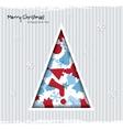 abstract christmas card with tree and christmas vector image vector image