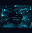 abstract technology blue triangles and low vector image vector image