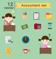 accountant vector image