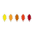 autumn leaves icons vector image vector image