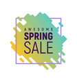awesome pixel spring sale template vector image vector image