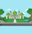 background muslim religious green mosque and vector image