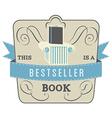 Bestseller Book vector image vector image