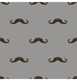 Black Hairy Mustache Silhouettes Seamless Pattern vector image vector image
